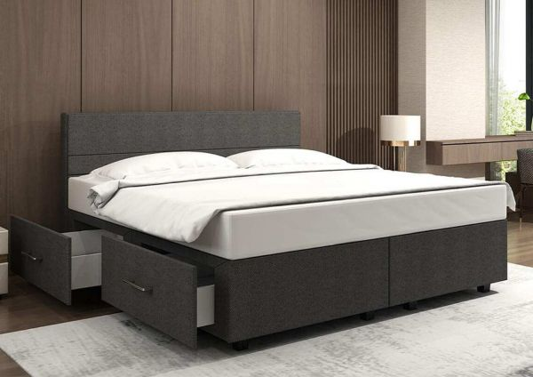 silverline Boxspring-Optik mit Stauraumsockel